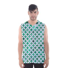 Circles3 White Marble & Green Marble Men s Basketball Tank Top