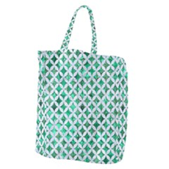 Circles3 White Marble & Green Marble Giant Grocery Tote