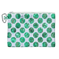 Circles2 White Marble & Green Marble (r) Canvas Cosmetic Bag (xl) by trendistuff