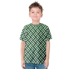 Woven2 White Marble & Green Leather Kids  Cotton Tee