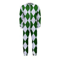 Square2 White Marble & Green Leather Onepiece Jumpsuit (kids)