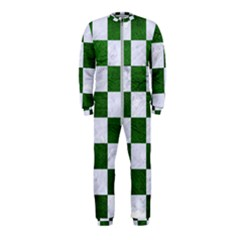 Square1 White Marble & Green Leather Onepiece Jumpsuit (kids)