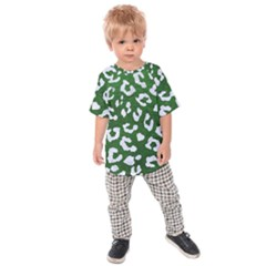 Skin5 White Marble & Green Leather (r) Kids Raglan Tee