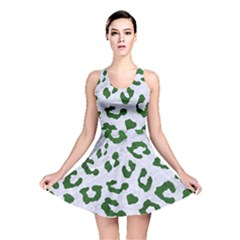 Skin5 White Marble & Green Leather Reversible Skater Dress