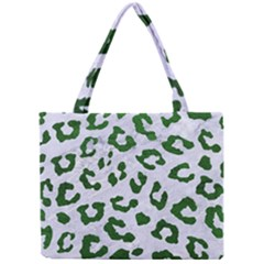 Skin5 White Marble & Green Leather Mini Tote Bag
