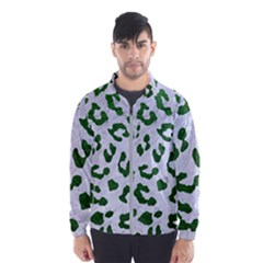 Skin5 White Marble & Green Leather Windbreaker (men)