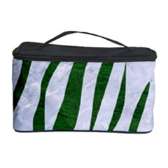 Skin3 White Marble & Green Leather (r) Cosmetic Storage Case by trendistuff