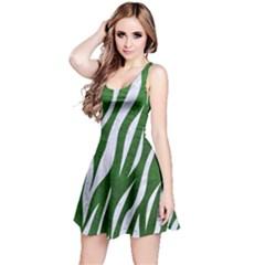 Skin3 White Marble & Green Leather Reversible Sleeveless Dress