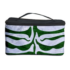 Skin2 White Marble & Green Leather (r) Cosmetic Storage Case