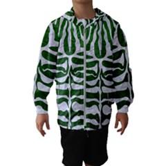 Skin2 White Marble & Green Leather Hooded Windbreaker (kids)