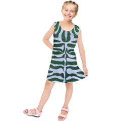 Skin2 White Marble & Green Leather Kids  Tunic Dress