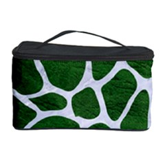 Skin1 White Marble & Green Leather (r) Cosmetic Storage Case by trendistuff