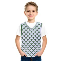 Scales1 White Marble & Green Leather (r) Kids  Sportswear