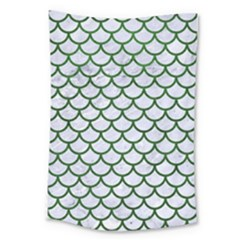 Scales1 White Marble & Green Leather (r) Large Tapestry by trendistuff