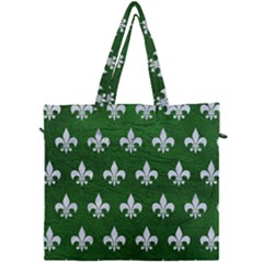 Royal1 White Marble & Green Leather (r) Canvas Travel Bag by trendistuff