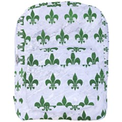 Royal1 White Marble & Green Leather Full Print Backpack