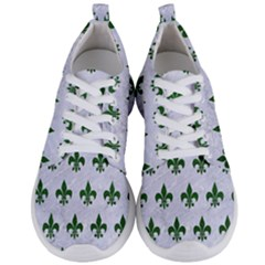 Royal1 White Marble & Green Leather Men s Lightweight Sports Shoes
