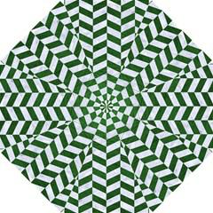 Chevron1 White Marble & Green Leather Hook Handle Umbrellas (small)