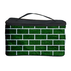 Brick1 White Marble & Green Leather Cosmetic Storage Case