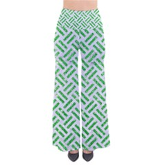 Woven2 White Marble & Green Glitter (r) So Vintage Palazzo Pants