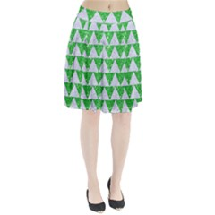 Triangle2 White Marble & Green Glitter Pleated Skirt