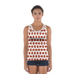 Red Peppers Pattern Sport Tank Top  by SuperPatterns