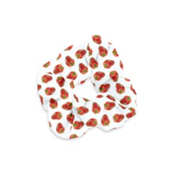 Red Peppers Pattern Velvet Scrunchie by SuperPatterns
