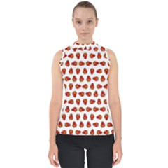 Red Peppers Pattern Shell Top by SuperPatterns