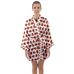 Red Peppers Pattern Long Sleeve Kimono Robe by SuperPatterns