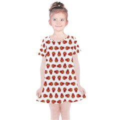 Red Peppers Pattern Kids  Simple Cotton Dress by SuperPatterns