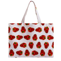 Red Peppers Pattern Mini Tote Bag