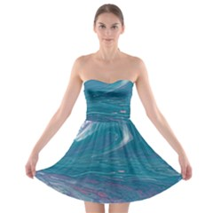 Drop Off Strapless Bra Top Dress