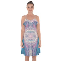 Drop Off Warp Ruffle Detail Chiffon Dress by lwdstudio