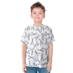Scissors Pattern Kids  Cotton Tee