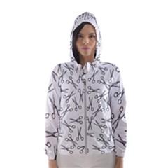 Scissors Pattern Hooded Windbreaker (women)