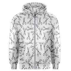 Scissors Pattern Men s Zipper Hoodie