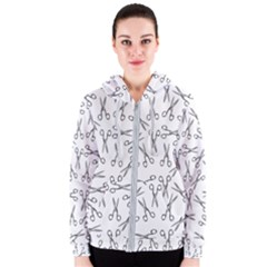 Scissors Pattern Women s Zipper Hoodie