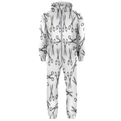 Scissors Pattern Hooded Jumpsuit (men)