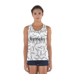 Scissors Pattern Sport Tank Top
