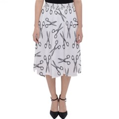 Scissors Pattern Folding Skater Skirt