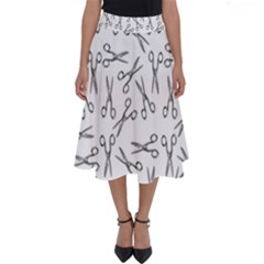Scissors Pattern Perfect Length Midi Skirt