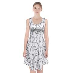 Scissors Pattern Racerback Midi Dress