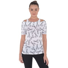 Scissors Pattern Short Sleeve Top