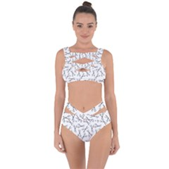 Scissors Pattern Bandaged Up Bikini Set