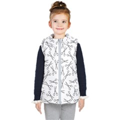 Scissors Pattern Kid s Hooded Puffer Vest