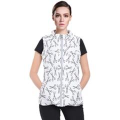 Scissors Pattern Women s Puffer Vest