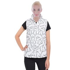 Scissors Pattern Women s Button Up Vest