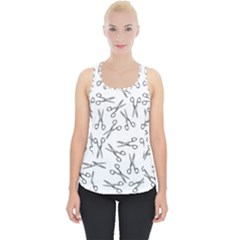 Scissors Pattern Piece Up Tank Top