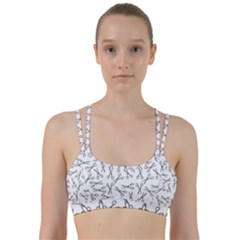 Scissors Pattern Line Them Up Sports Bra
