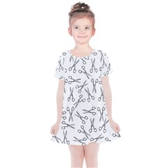 Scissors Pattern Kids  Simple Cotton Dress